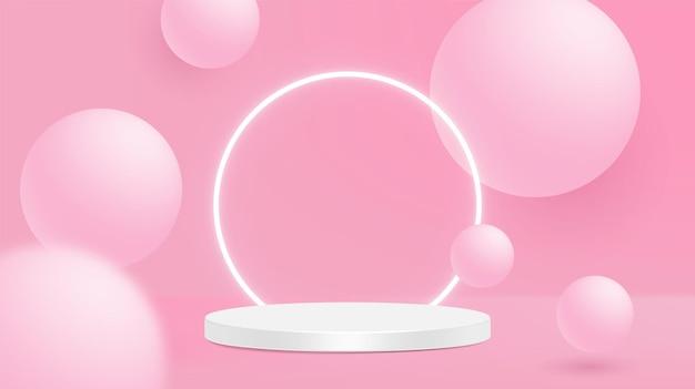 Stromende witte en roze zachte bollen.