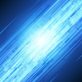 Stroom van blauwe technostralen abstracte achtergrond.
