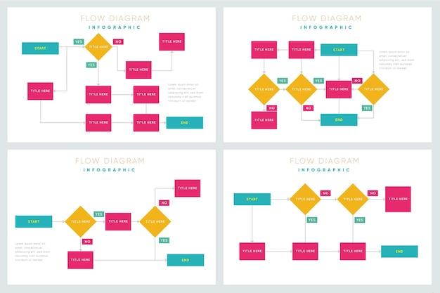 Stroomdiagram infographic collectie