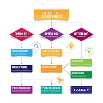 Stroomschema - infographic concept