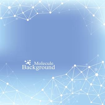 Structuur molecuul atoom dna en communicatie achtergrond. concept van neuronen. scince illustratie van een dna-molecuul en neuronen. zenuwstelsel. medische wetenschappelijke achtergrond. vector illustratie