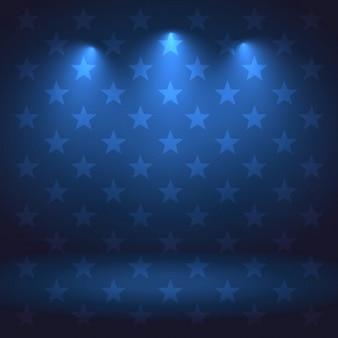Strudio achtergrond met verlichting