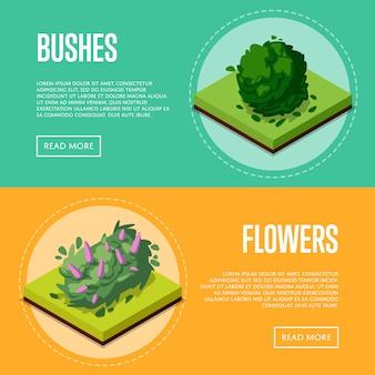 Struiken en bloemen voor parkposters
