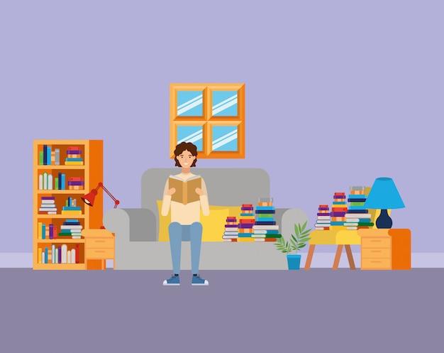 Studeerkamer met boeken