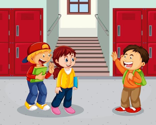 Student op schoolgang