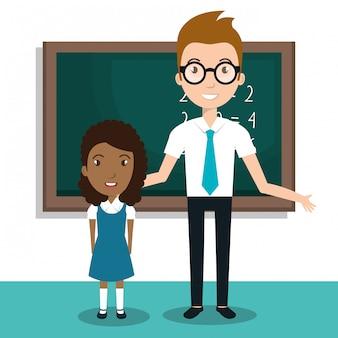 Student schoolleraar pictogram