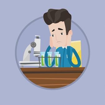 Student werken in laboratorium klasse.
