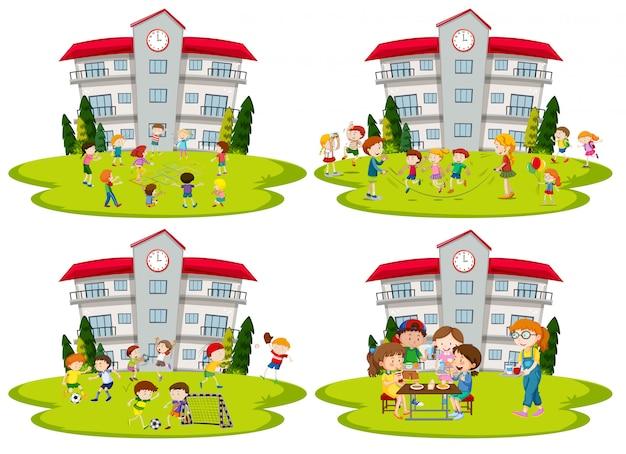 Studentactiviteit op school