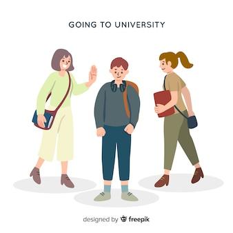 Studente aan de universiteit