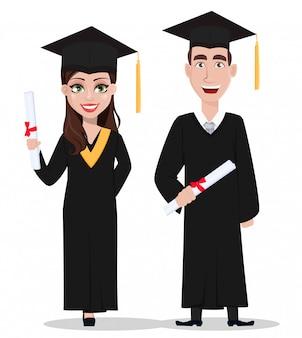 Studenten afstuderen