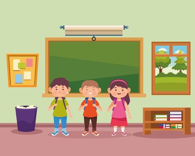 Studenten in de illustratie van de klas