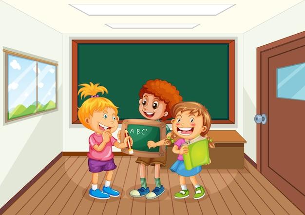 Studenten in de klas