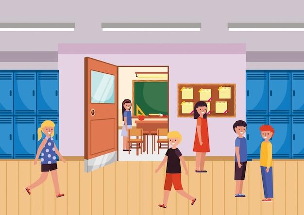 Studenten op school