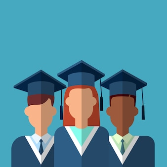 Studentengroep graduatietoga