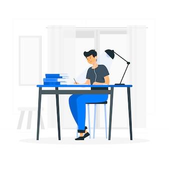 Studeren concept illustratie