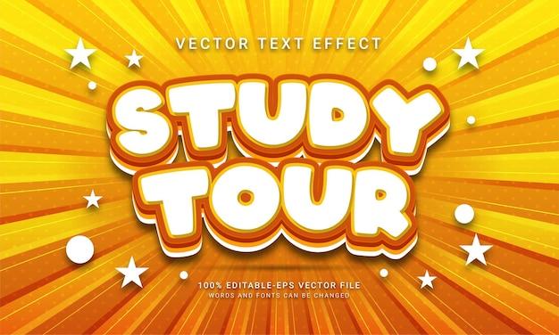 Studiereis bewerkbaar teksteffect met vakantiethema's