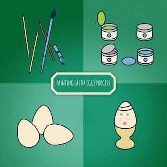 Stuff te schilderen easter eggs