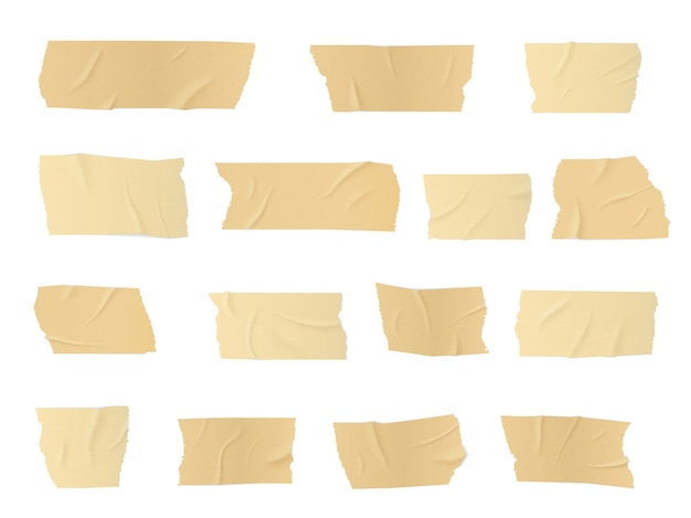 Stukken van ducttape, zelfklevende strepen