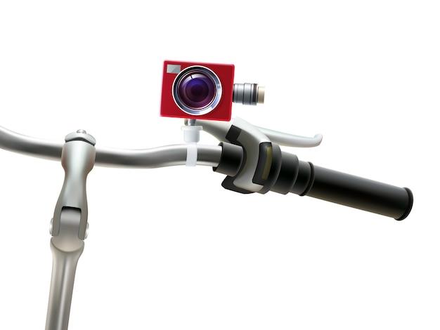 Stuur camera realistische illustratie