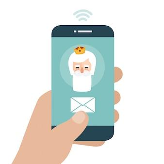 Stuur je brief naar the three wise men of orient vanuit je mobiele telefoon