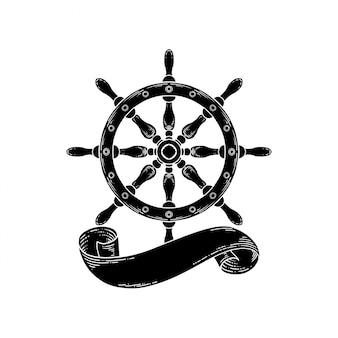 Stuur van het schip