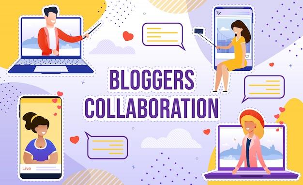 Substanties voor samenwerking van blogger voor populariteit