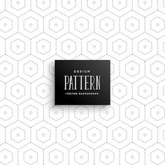 Subtiele zeshoekige stippen patroon achtergrond
