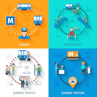 Subway design concept set