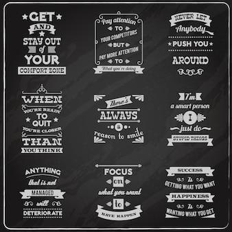 Succes citaten stellen schoolbord
