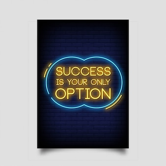 Succes is uw enige optie voor neonreclamestijl