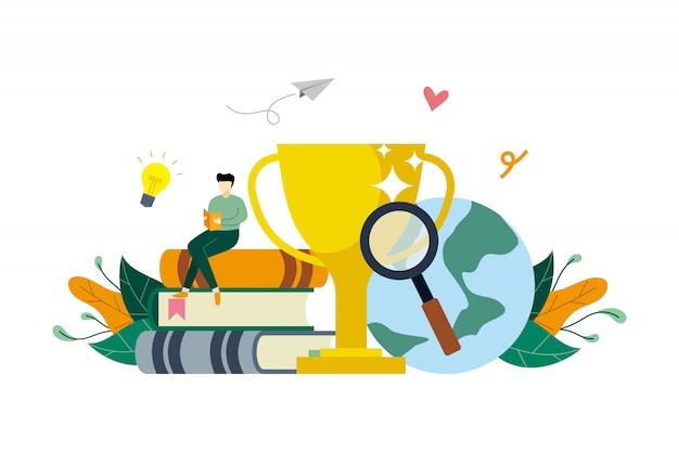 Succes onderwijs concept illustratie