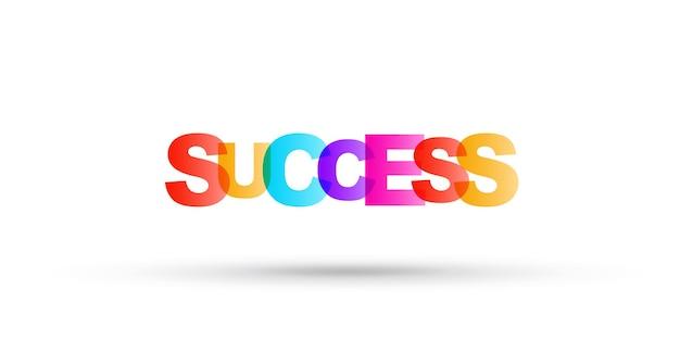 Successl heldere belettering eenvoudige illustratie