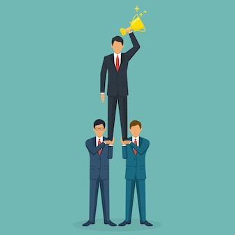 Succesvol teamwerkconcept. creatieve zakenmensen