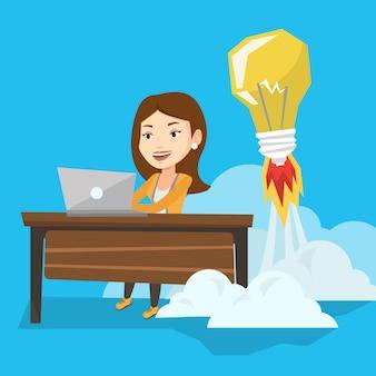 Succesvolle business idee vectorillustratie.