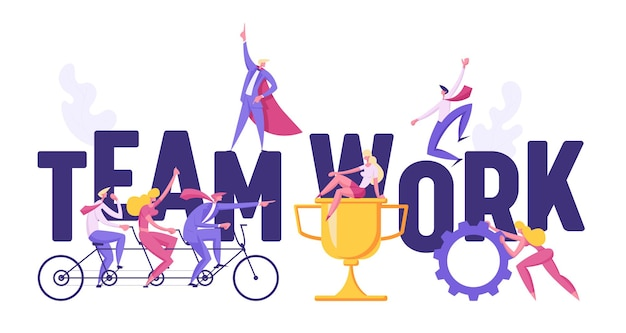 Succesvolle business teamwork concept banner afbeelding