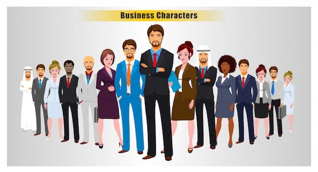 Succesvolle leden van het zakelijke team