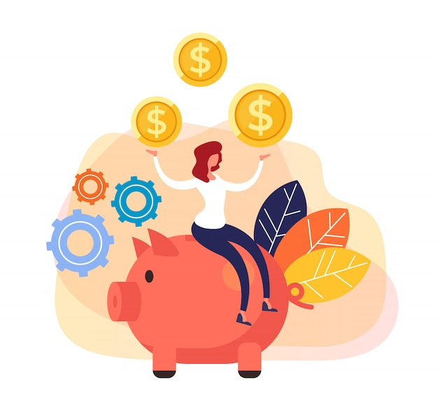 Succesvolle onderneming met grote bankinvesteringen