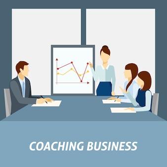 Succesvolle poster voor zakelijke coaching