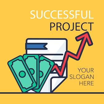 Succesvolle projectbanner
