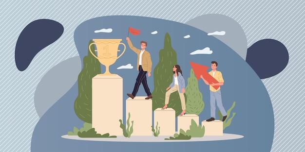 Succesvolle teamwinnende prijs