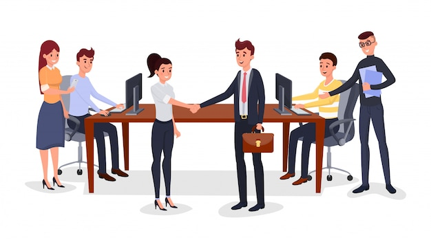 Succesvolle zakelijke bijeenkomst