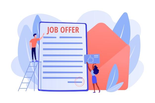 Succesvolle zakelijke deal. aanwerving van werknemers, wervingsservice