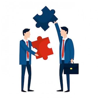 Succesvolle zakenlieden avatar cartoon