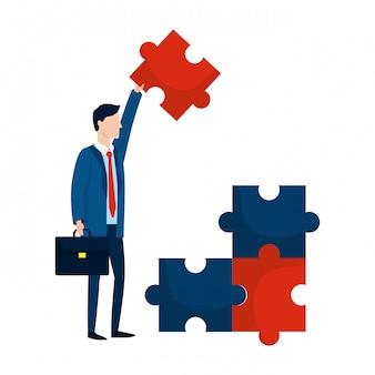 Succesvolle zakenman avatar cartoon