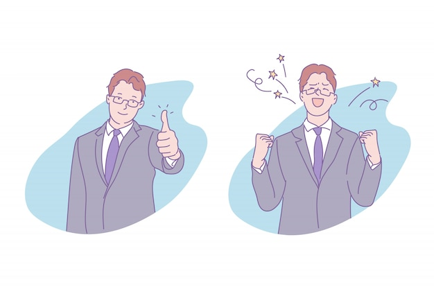 Succesvolle zakenman illustratie