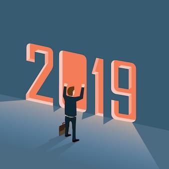 Succesvolle zakenman in jaar 2019
