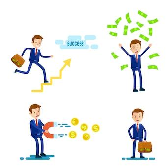 Succesvolle zakenman karakter
