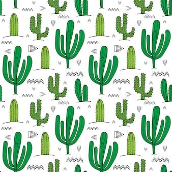 Succulente plant naadloze patroon achtergrond.