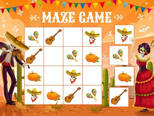Sudoku-spel, mexicaanse dia de los muertos-vakantie