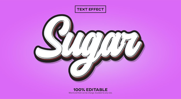 Sugar 3d-teksteffect
